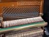 szwedzkie przedwojenne pianino Ekstroms ze świecznikami