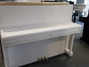 śliczne białe pianino marki Samick z Korei